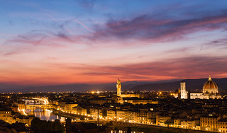 Florence after sunset