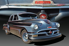 Customized - 1952 Pontiac (Brad Harding Photography) Tags: 52 1952 pontiac antique chrome chief paola kansas heartlandcarshow vintage automobile restoration restored pinstriping customized