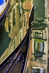 Gondola Head in Reflected Water (lhg_11, 2million views. Thank you!) Tags: travel travelphotography cruise europe venice venezia wate water canal boats gondola reflections