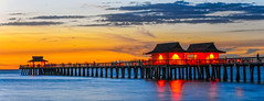 Naples Pier After Sundown (C. P. Ewing) Tags: gulf ocean sunset sundown sky skies pier landscape seascape colorful beautiful all water waves yellow red orange blue landscapes autoremovedfrom10to25faves