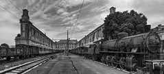 Abandoned Trieste - lost station (berny-s) Tags: triest trieste abandoned train steam locomotive station railway panorama perspective monochrome