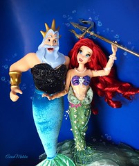 Happy Mer-Father's Day! (Richard Zimmons) Tags: kingtriton little mermaid disney walt store dfdc designer doll barbie ariel fashion mattel simba ursula princess