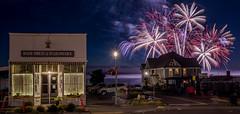 July 4 2017 (llabe) Tags: street town bairdrug nightlights night fireworks independenceday julyfourth steilacoom washington nikon d750