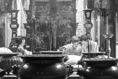chinese temple (Greg Rohan) Tags: bwphotography hochiminhcity chinesetemple blackwhite blackandwhite d7200 2017 monochrome people bw chinese temple asia vietnam saigon