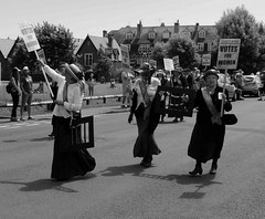 Where did Emily go? (jh.shearing) Tags: suffragettes parade mono