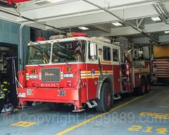 FDNY Ladder Fire Truck (old L105), Bedford, Brooklyn, New York City (jag9889) Tags: 2017 20170615 apparatus architecture bedstuy bedford bedfordstuyvesant bravest brooklyn building e214 engine214 fdny firedepartment firedepartmentofthecityofnewyork firehouse firestation firefighter firstresponder hancockstreet hook house indoor kingscounty ladder ladder111 laddertruck ny nyc newyork newyorkcity newyorkcityfiredepartment newyorksbravest nuthouse ridgewood seagrave truck usa unitedstates unitedstatesofamerica vehicle jag9889