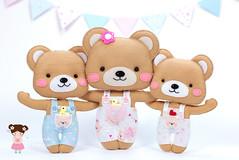 Apostila de Moldes GRATUITA: Abraço de Urso ♡ (Ei menina! - Érica Catarina) Tags: urso feltro vídeodemonstrativo artesanato abraçodeurso lembrancinha enfeite