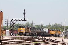 UP 8798 (CC 8039) Tags: up sp trains sd70ace ac44cw cpl searchlight signal wann east alton illinois