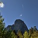 A Contrail Flying Above Sentinel Rock (Yosemite National Park)