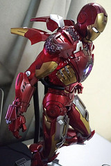 Iron Man Mark VII (becauseBATMAN) Tags: hot toys iron man tony stark mark 7 vii avengers figure collectible flying red gold silver arc reactor stand weapons arms missiles flaps mask movie battle damaged ironman hottoys