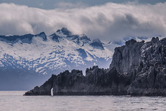 Admiralty Island (robertdownie) Tags: sky landscape sea water nature travel ocean rock beautiful snow panorama mountain ice gray cloud panoramic limestone outdoors cliffs alaska scenic peaks peak united states america south east no person usa