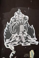 Monstruo (Daquella manera) Tags: washingtondc dc hillary clinton trump poster paste up monster monstruo money street art arte callejero