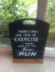 There's Only One Kind Of Exercise I Know And It's The Beer Run Cambridge June 2017 (symonmreynolds) Tags: theresonlyonekindofexerciseiknowanditsthebeerrun chalkboard iphone5s mobilephone cellphone cambridge june 2017