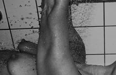 boobs (JoyFul-Child) Tags: boobs black white arm hend drop water shower