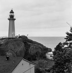 (glauberpitfall) Tags: filmphotography yashicamat124g yashinon80mm kodak400tx travelphotography lighthouse pointatkinsonlighthouse vancouver bc canada