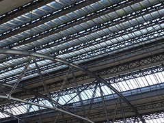 Station canopy (Wider World) Tags: england liverpool limestreet station roof canopy glass iron