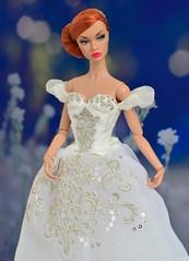Giselle (Dolldiva67) Tags: poppy portrait integritytoys fashionroyalty bride white mood red hair moodchangers redhaireddolls funny face audrey hepburn paris giselle ballet sylphs ballerina parker integrity toys fashion royalty blue changers