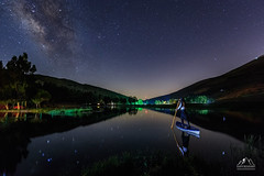 Travelling To The Stars (boukarimkarim) Tags: nightphotography stars milkyway longexposure star water ref reflection me karimboukarim canon6d 6d sailor