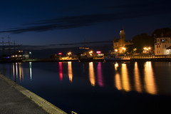 Water, colors, night! (navarrodave80) Tags: night lights colors building ship river waterfront skyline sky longexposure noperson slowshutterspeed nightscape nikon d3300 ustka poland polska davechmiel chmiel