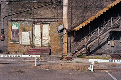 Stage door, Paramount Theater (ADMurr) Tags: dab162 ms clarksdale delta leica 50mm summicron sawhorse stairs m6