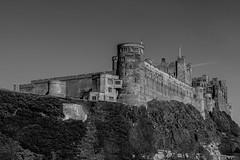 Bamburgh Castle (SK51) Tags: art bw bamburghcastle blackandwhite canon40d castle england europe lightroom northumberland structures uk