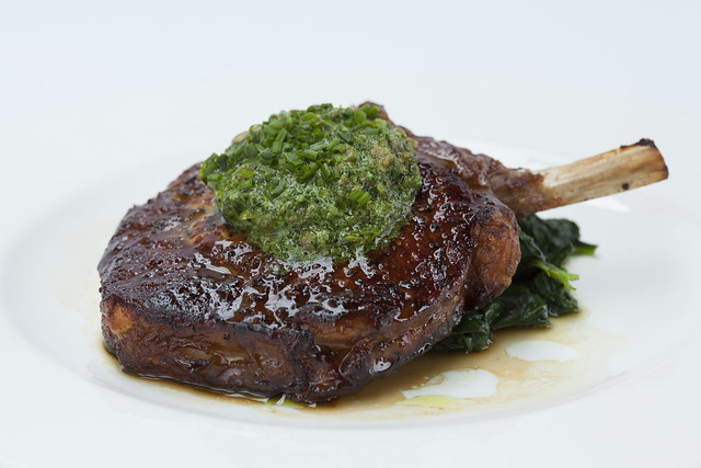 ROH Veal chop Montpelier butter