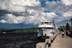 La Marjolaine au quai (BLEUnord) Tags: bateau boat marjolaine saguenay rivière river saguenaylacstjean port vieuxport nuages clouds nuageux cloudy chicoutimi
