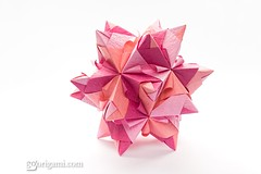 25 More Incredible Looking Origami Kusudamas (Origami.me) Tags: origami papercraft craft crafts diy fold folding paper kusudama kusudamas modular