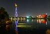 Doha Night 4 ... (Bijanfotografy) Tags: doha dohaqatar dohanight qatar aspireparkqatar aspirepark aspireparkatnightdoha torchtower lake nikon nikond500 nikon20mm18g