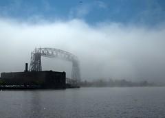 Lake Fog (p. j. mcintyre) Tags: duluth duluthharbor aerialliftbridge
