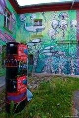 IMGP2242 (Claudio e Lucia Images around the world) Tags: metelkova mesto ljubljana lubiana streetart street graffiti murales tag sigma colors walls fish