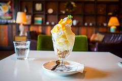 Coconut Milk Parfait (moaan) Tags: osaka japan jp coconut parfait sweets cafe myfavoritecafe mtcafe juso dof bokeh bokehphotography leicax2