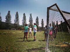 Día 8 . Juegos en el campo de fútbol. ¡Cuidado con los cardos!