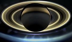 Saturn global (cropped) mosaic April 13, 2017 (with Earth, Mimas and Enceladus)) (2di7 & titanio44) Tags: nasa cassini saturn grandfinale earth mimas enceladus