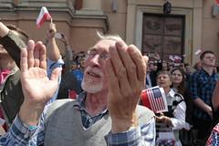 President Trump in Poland, July 2017 (Włodzimierz Batóg) Tags: president donald trump potus warsaw poland visit crowds greeting welcome street anti security applause flowers wreath