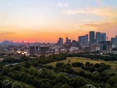 Mudchute View (JH Images.co.uk) Tags: london sunset canarywharf hdr dri sun city cityscape drone mavic skyline mudchute