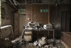 Desk duty (Camera_Shy.) Tags: derelict abandoned old mill office disused decayed rotten textile cotton wool machinery uk industrial industry revolution equipment urban tresspassing exploration photography nikon d810 ue urbex