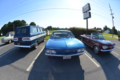 Classic Cars Corvair Club Hoyt's Restaurant Lexington, NC 20170710_4241 (Shane's Flying Disc Show) Tags: classiccars corvairclub davidson nc lexinton unsafeatanyspeed daredevils