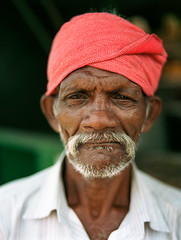 Man at tea stall, Valparai, India (davidivjak) Tags: pentax67 mediumformat 75mm 28 al kodak portra analog film portrait india teaplantation believeinfilm filmisnotdead