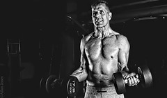 The Workout (Allan Jones Photographer) Tags: robertalmond weights sweat workout gym bw blackandwhite mono monochrome effort muscle creativelighting highcontrast photoshop allanjonesphotographer canon5d3 canonef24105mmf4lisiiusm artistic lightsandshadows