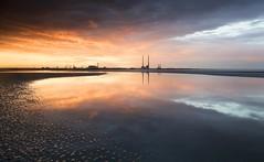 Poolbeg Skyline (Kevin.Grace) Tags: rte weather ireland dublin poolbeg chimneys sunset landscape seascape