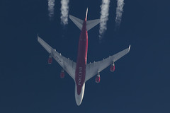 Rossiya Airlines Boeing 747-400 EI-XLG, 11-Jul-2017 (Sergey Kustov) Tags: moscow russia khimki airplane aircraft airliner jet jumbo cruise level flight contrail extremespotting telescope high altitude boeing 747400 rossiya airline eixlg
