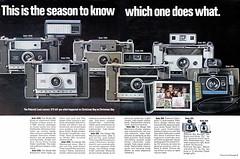 1970 Polaroid Land Cameras (Tom Simpson) Tags: 1970 1970s polaroid camera landcamera polaroidlandcamera vintage film filmcamera instantcamera vintagead ad ads advertising advertisement vintageads