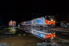 Bloody nose reflection (Matthew DeLanghe) Tags: amtrak carolinian salisbury northcarolina amtk trains train refelction