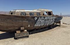 Bombay Beach Yacht (cowyeow) Tags: abandoned saltonsea beach old forgotten deserted desert california usa america bombaybeach empty wasteland ruins boat graffiti yacht wood woodboat funny
