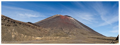 Mount Ngauruhoe also well known as the Mount Doom (al3x!s) Tags: mountngauruhoe black blue brown color colour d7000 geology gray grey landscape mudvolcano nature newzealand nikkor24mm nikon outside panorama photo red rock rocks sky sunlight travel volcano white tongarironationalpark manawatuwanganui lotr