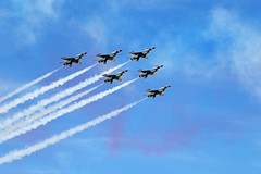 The US Air Force Thunderbirds fly over Paris on Bastille Day 2017 - Explored! (Monceau) Tags: usairforce thunderbirds flyover fly over paris bastilleday 14juillet airplane sky jet american usaf 117picturesin2017 59itcanfly explore explored