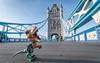 Roaring on the Bridge (Reiterlied) Tags: 1020mm angle d500 dslr dino dinosaur frankensteinosaurus lens london nikon photography raptor reiterlied sigma stuckinplastic trex towerbridge toy tyrannosaur uwa velociraptor velocirex wide
