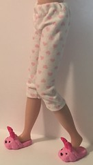 Little Pink Hearts For You And Me...Leggings For Blythe...