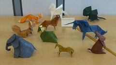 My display at the German Origami Convention 2017 (Thomas Krapf Origami) Tags: origami deutschland german convention paperfolding papier